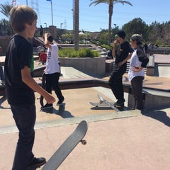 Photo taken at Santa Clarita Skate Park by Nick L. on 4/5/2014