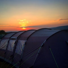Photo taken at Shorefield Campsite by Adam T. on 7/27/2014