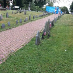 Photo taken at Copp's Hill Burying Ground by Jordana E. on 7/26/2013