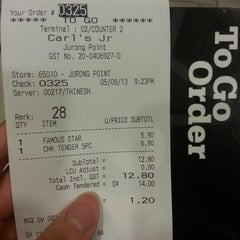 Photo taken at Carl's Jr by Icyflame L. on 8/5/2013