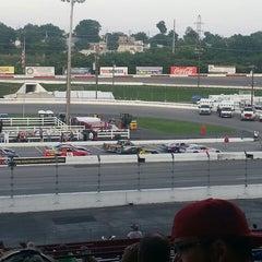 Photo taken at Nashville Fairgrounds Speedway by Wendie P. on 6/9/2013