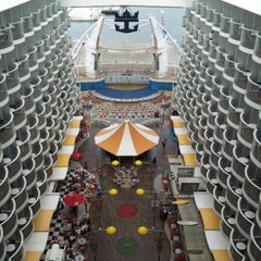 Photo taken at Royal Caribbean Oasis of the Seas by Sergio V. on 1/5/2013