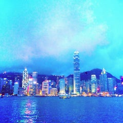 Photo taken at Victoria Harbour 維多利亞港 by Mitsuki L. on 6/23/2013