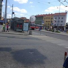 Photo taken at Mendlovo náměstí (tram, bus) by Martin M. on 7/4/2013