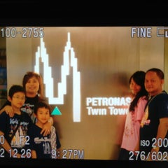 Photo taken at KLCC  Twin Tower by Teresia P. on 6/14/2013