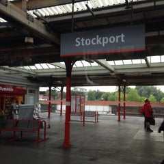 Photo taken at Stockport Railway Station (SPT) by Talal A. on 9/30/2013