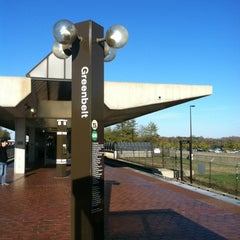 Photo taken at Greenbelt Metro Station by Melissa K. on 11/8/2012