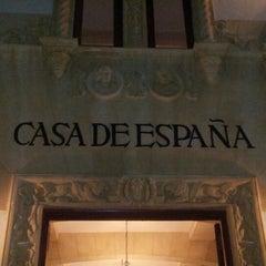 Photo taken at Casa de España by Alex M. on 2/6/2013