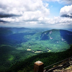 Photo taken at Whiteside Mountain by Brandon R. on 6/1/2014