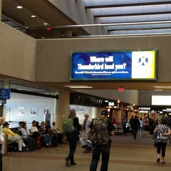 Photo taken at Terminal 4, Concourse B by Guillermo S. on 11/1/2012