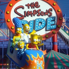 Photo taken at The Simpsons Ride by Marco P. on 10/9/2013