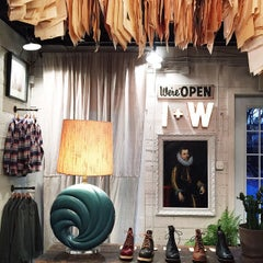 Photo taken at Warby Parker at Imogene+Willie by Adam S. on 2/15/2015
