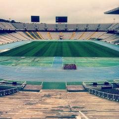 Photo taken at Estadi Olímpic Lluís Companys by Serguei O. on 11/28/2012