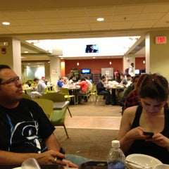 Photo taken at Louis J. Esposito Dining Center by Felipe A. on 4/25/2013