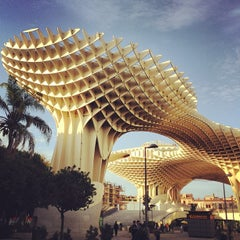 Photo taken at Metropol Parasol by Ricardo D. on 11/25/2012