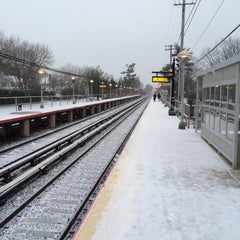 Photo taken at LIRR - Nassau Blvd Station by Andrew B. on 12/17/2013