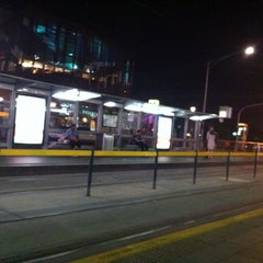 Photo taken at Tram Stop 13 - Federation Square (3/3a, 5, 6, 16, 64, 67, 72) by Syafira Putri L. on 12/22/2012
