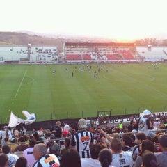 Photo taken at Estádio Joaquim Henrique Nogueira (Arena do Jacaré) - Democrata Futebol Clube by Leonardo O. on 9/3/2011