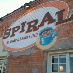 Photo taken at Spiral Diner & Bakery by Patty M. on 12/30/2011