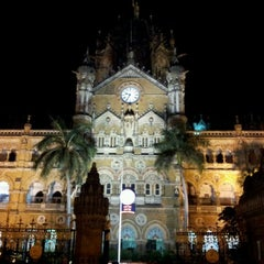 Photo taken at Chhatrapati Shivaji Terminus by Salman S. on 1/26/2012