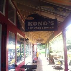 Photo taken at Kono's Big Wave Cafe by Raymond M. on 9/11/2012
