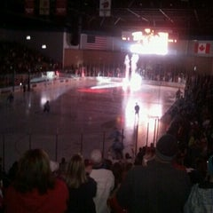 Photo taken at Rushmore Plaza Civic Center Ice Arena by Molly M. on 11/26/2011