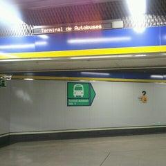 Photo taken at Metro Moncloa by Alfredo P. on 7/3/2012