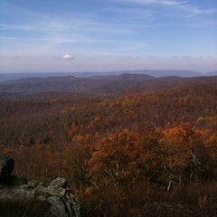 Photo taken at Bearfence Mountain Parking by Conrad C. on 10/23/2011