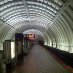 Photo taken at Cleveland Park Metro Station by Activ8Social on 11/14/2011