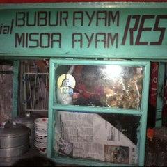 Photo taken at Bubur Ayam Restu by Dita L. on 6/18/2012