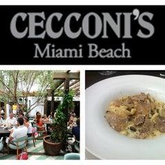 Photo taken at Cecconi's Miami Beach by Simon D. on 8/6/2012