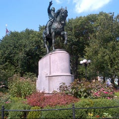 Photo taken at George Washington Statue by Valerie S. on 7/4/2012