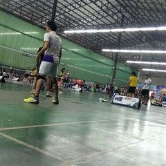 Photo taken at CC Badminton Court by POTTAMAN ® on 1/25/2014