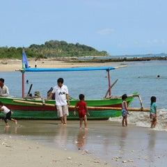 Photo taken at Tanjung Lesung by Nadya F. on 7/7/2013