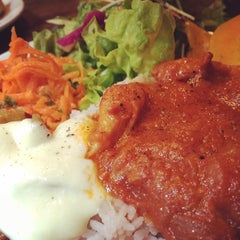 Photo taken at Cafe Amar by Asami K. on 2/19/2014