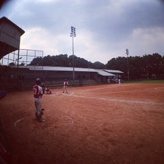 Photo taken at Lapangan Softball / Baseball Lodaya by Adhitya Nugraha P. on 5/14/2014
