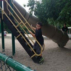 Photo taken at Barton Springs Playground by Kenneth D. on 7/15/2013