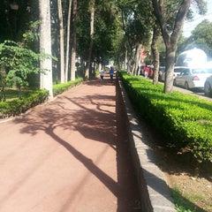 Photo taken at Parque Arboledas by Paulo M. on 7/16/2013