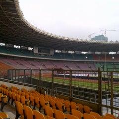 Photo taken at Stadion Utama Gelora Bung Karno (GBK) by Muh S. on 7/13/2013