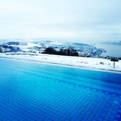 Photo taken at Panorama Resort Feusisberg by Steve J. on 2/9/2015