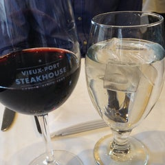 Photo taken at Vieux-Port Steakhouse by Andrea C. on 12/30/2013