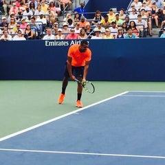 Photo taken at Grandstand - USTA Billie Jean King National Tennis Center by Fm D. on 9/4/2015