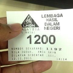 Photo taken at Lembaga Hasil Dalam Negeri (LHDN) by Hamizan H. on 11/12/2015