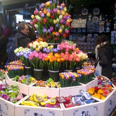 Photo taken at Bloemenmarkt by Mara S. on 4/29/2013