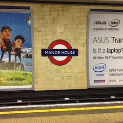 Photo taken at Manor House London Underground Station by Ashley W. on 12/7/2013