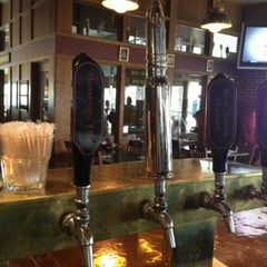 Photo taken at Red Brick Station Restaurant & Brew Pub by Michael B. on 4/17/2013