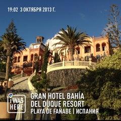 Photo taken at Gran Hotel Bahía del Duque Resort by Павел К. on 10/3/2013