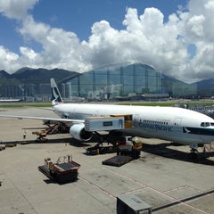 Photo taken at Hong Kong International Airport 香港國際機場 (HKG) by Benedict U. on 7/3/2013