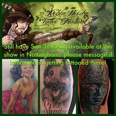 Photo taken at Kustom Kulture Tattoo Studio by Wendy B. on 8/21/2014