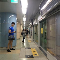 Photo taken at 센텀시티역 (Centum City Stn.) by Vincent Y. on 9/8/2015